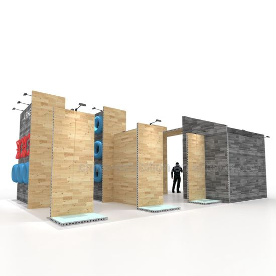 Alla moda in tutto il mondo Easy Building Modular Custom Exhibition Booth Design Stand fieristici Espositori