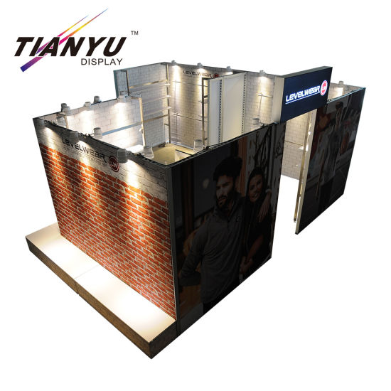 2019 New Super 10X10 Exhibition Booth in tessuto in tensione Trade Show Booth pieghevole
