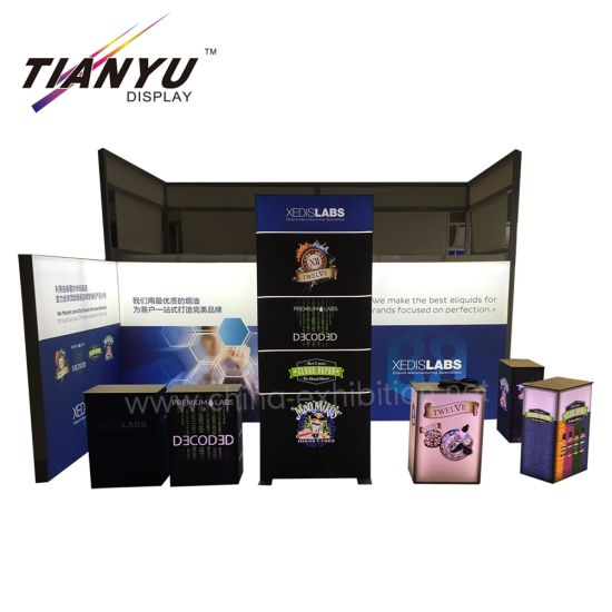 OEM Exhibition Booth utilizzato in modalità stand Trade Show Booth TV mostra con luce LED